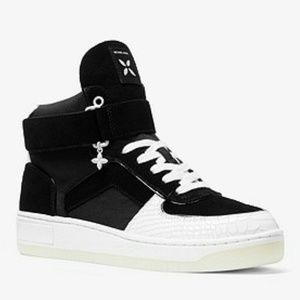 Michael Kors Shoes - 💎NWOB Michael Kors B&W High-top Sneakers